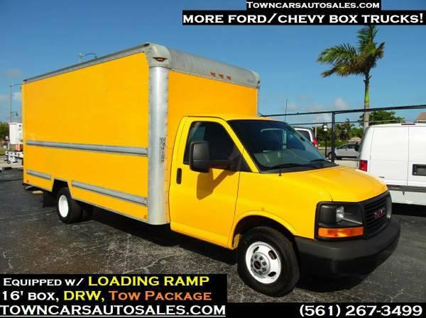 2014 gmc savana 3500 cargo van box truck for sale palmbeach fl commercial trucks for sale