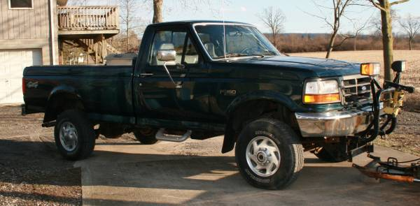 1997 Ford F350 4x4 Pickup Truck With Snow Plow For Sale