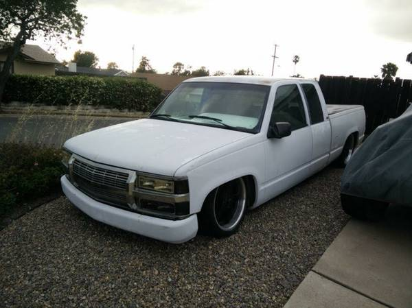 1995 Chevy 1500 Silverado Truck Extended Cab Bagged For Sale