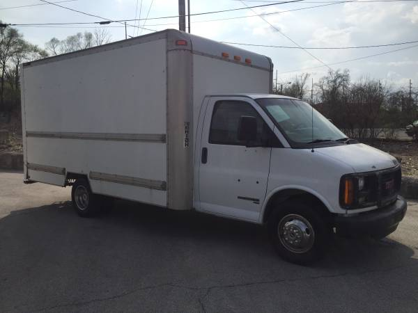 2001 gmc savana 3500 14ft box truck for sale fort wayne in in commercial trucks for sale