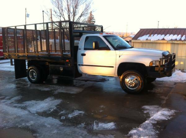 Dodge Ram 3500 4x4 Dually Diesel Flat Bed Dump Truck For Sale Austin Tx