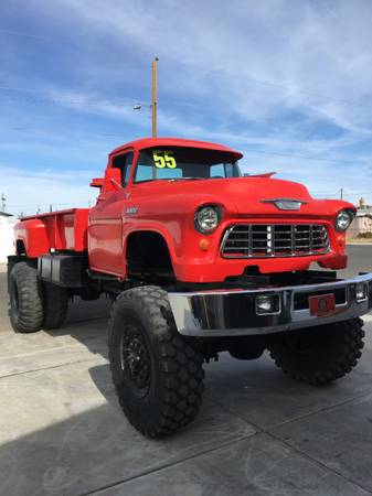 1955 Chevy truck on Military frame/engine for Sale, Kingman