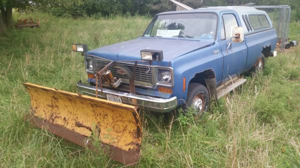 1973 Chevy K10 1/2 ton 4x4 plow truck for Sale, Macon, IL MO