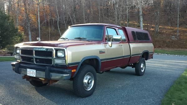 93 Dodge Cummins >> 1993 Dodge Diesel W250 4wd Fisher Plow 12 Valve Cummins