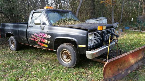 1984 chevy k20 4x4 truck with snow plow for Sale, trevor wi WI