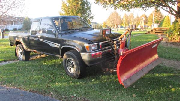 93 Toyota Pickup 4x4 W Western Snow Plow For Sale Hebron Il