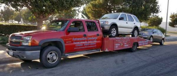 2003 CHEVY 3500 LS 8 1 VORTEC TOW TRUCK FLAT BED/ CAR HAULER for