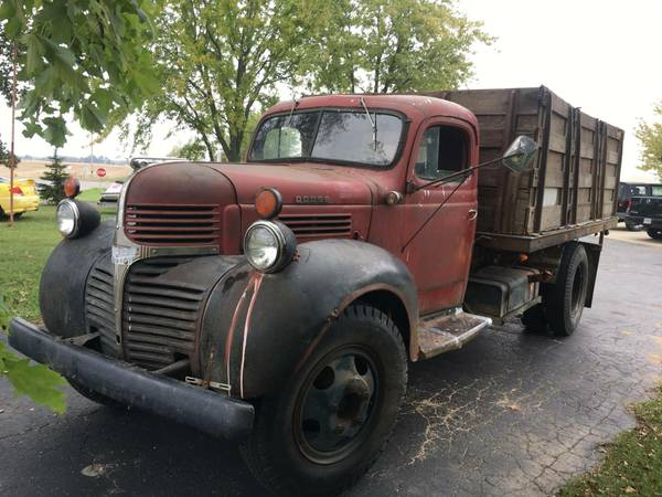 1947 dodge dump truck must see for sale howe mi. Black Bedroom Furniture Sets. Home Design Ideas
