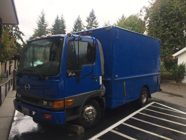 Plumbing body service truck, Hino FA for Sale, Seattle WA