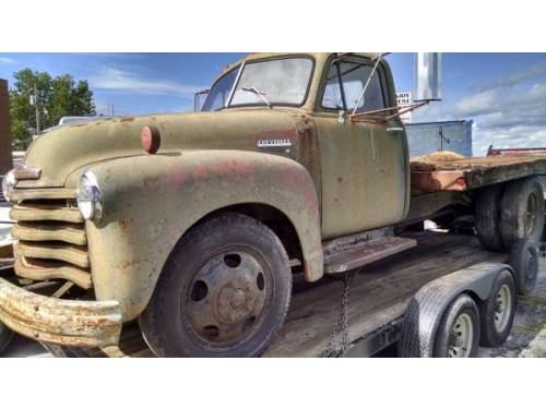1951 chevy dump bed truck for sale billings mo. Black Bedroom Furniture Sets. Home Design Ideas
