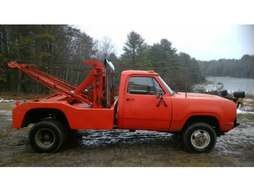 1973 Dodge Wrecker With Holmes Winch For Sale Woolwich Me